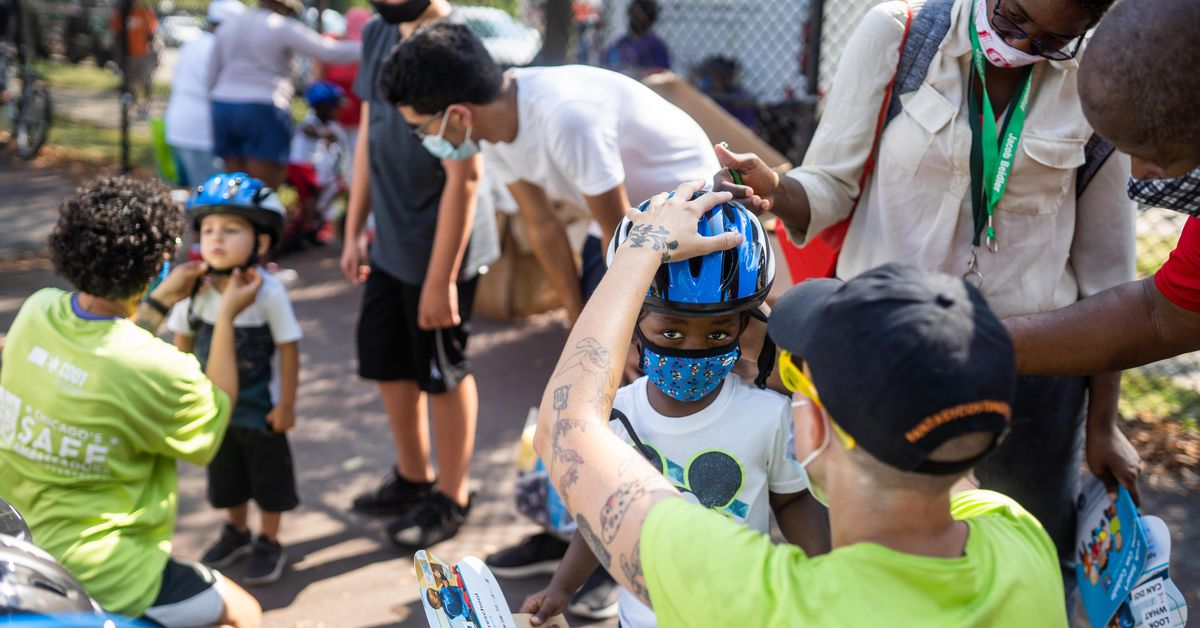 Dozens of bikes given away to kids at Union Park