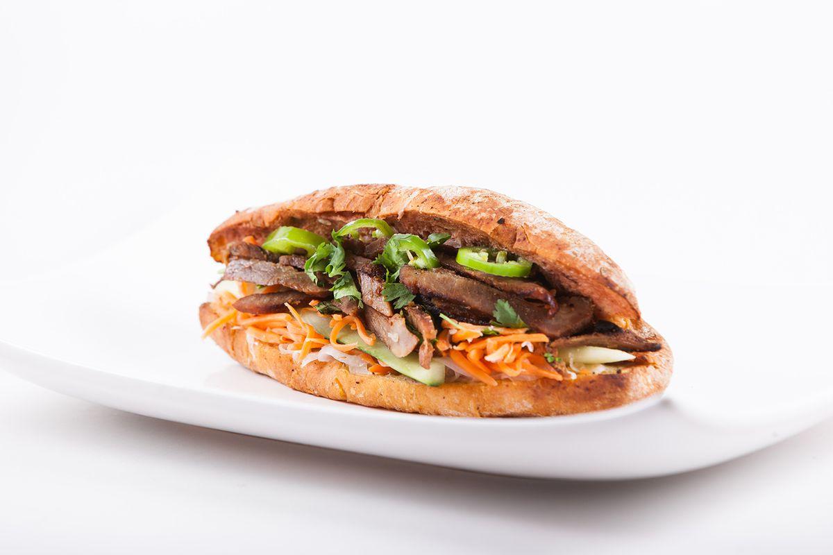 A banh mi sandwich at Tigerly Ox.