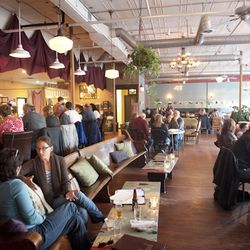 <strong>Local 188,</strong> West End. A wide open space decorated with a mix of funky estate-sale finds and a changing exhibit of photographs strung on wires, Local 188 is airy and warm at the same time. Church pews and crushed-velvet upholstered sofas cr