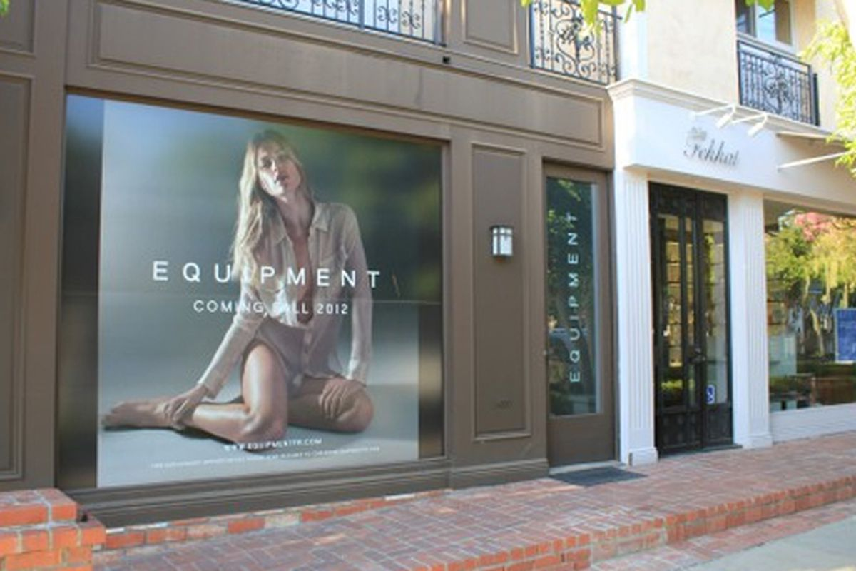 """Photo via <a href=""""http://theboutique411.com/the-secret-is-out-equipment-will-open-this-fall-on-melrose-place/"""">Boutique 411</a>"""