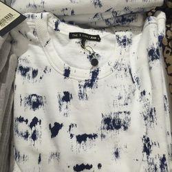 /Jean sweatshirt, $85