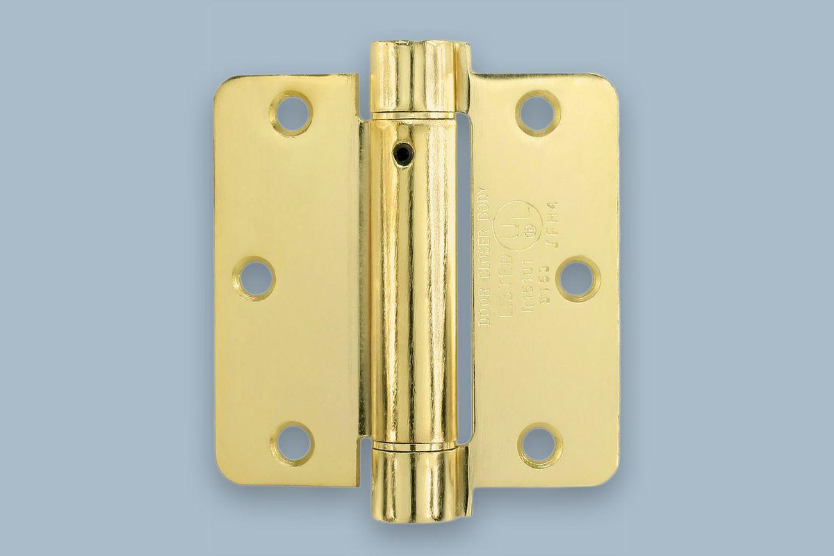3.5-inch 1/4-inch radius spring-loaded butt hinge