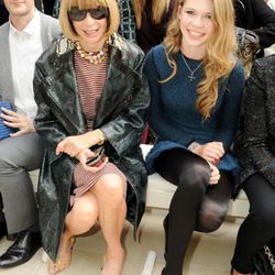 Anna Wintour and Elle Wintour attends at the Burberry Spring Summer 2012 Womenswear Show at Kensington Gardens on September 19, 2011 in London, England.