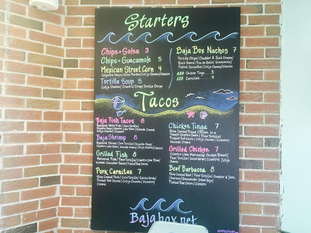 Baja Box menu