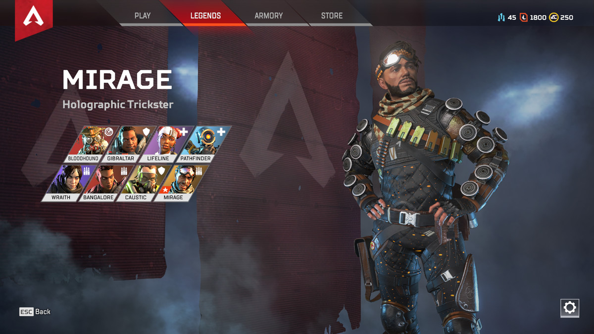 Apex Legends Mirage character select