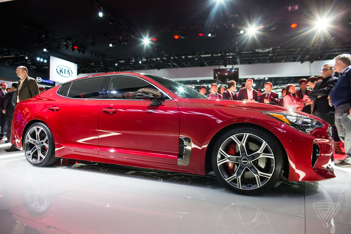 This Year At The North American International Auto Show Outlier Is Kia Stinger A Rear Wheel Drive Sports Sedan