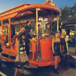 Models do their thing in the Americana trolley.