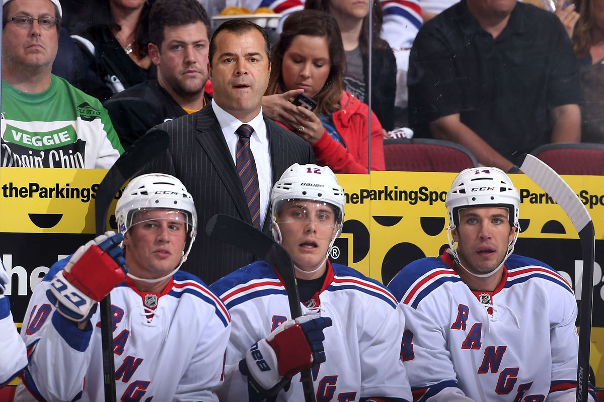 Alain Vigneault plans to push the pace with the Rangers' gameplan.
