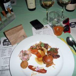 Joshua Whigham of The Bazaar (Red Wattle Pif - Walnut Keep Farm)<br /><br />-Cone with liver, membrillo, Marcona almonds<br />-Gazpacho<br />-Cracklin' Jacks with espelette<br />-Chorizo<br />-Croquetas de Cabeza<br />-Porchetta tabouleh<br />-Oranges &am