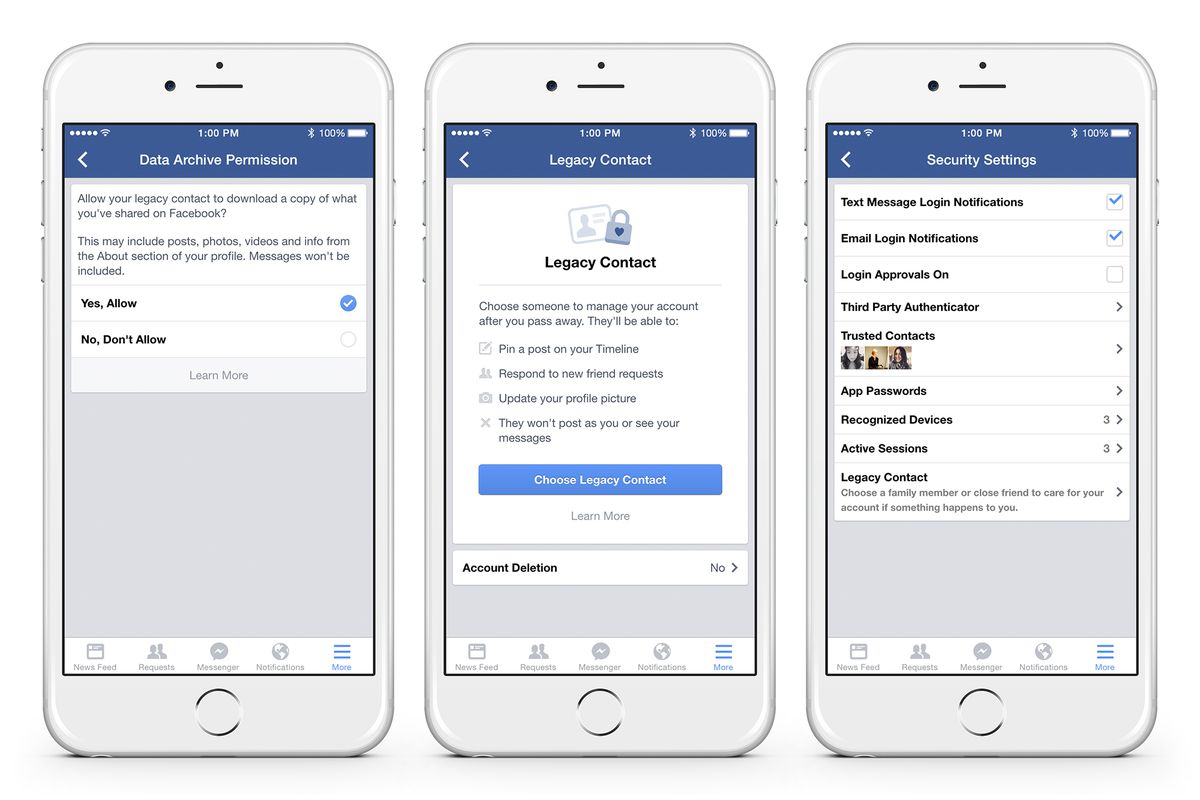 facebook now lets you choose who controls your account after you die - fortnite legacy controls