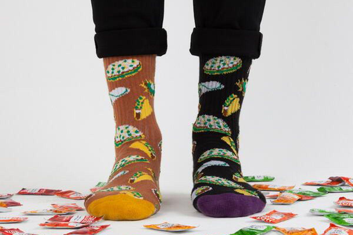 "Socks <a href=""https://twitter.com/TacoBell/status/443424404588863488"">via</a>"