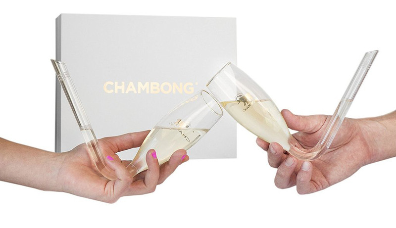 Two Chambongs, held in white hands