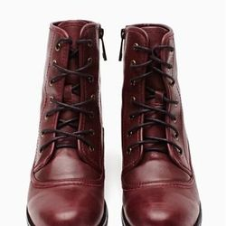 """<a href=""""http://www.nastygal.com/product/converge-combat-boot/_/searchString/shoe%20cult"""">Converge Combat Boot</a>, $98"""