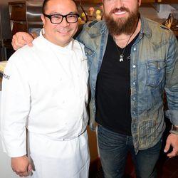 Joseph Elevado and Zac Brown at Andrea's. Photo: Aaron Garcia