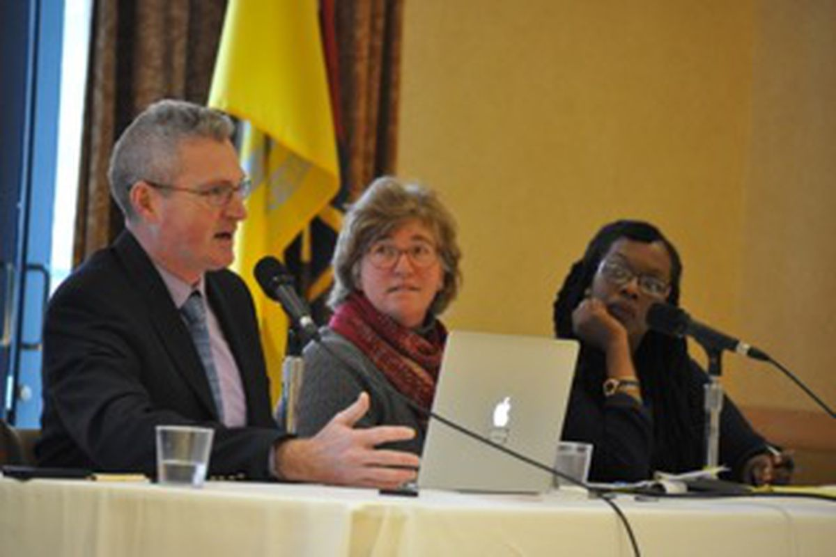 At a panel discussion at the University of Colorado Boulder. From left: Raegen Miller, Teach For America; Jennie Whitcomb, University of Colorado; Terrenda White, University of Colorado