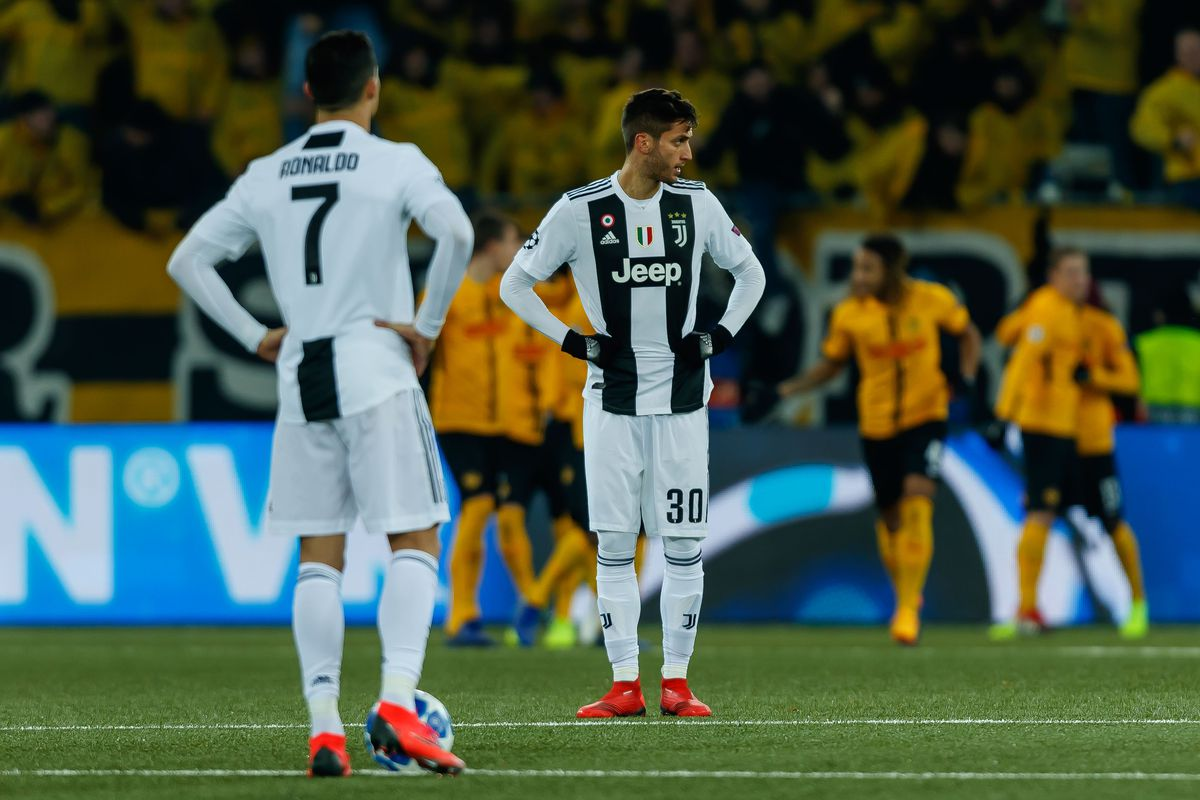 buy online b7d2e 14ed9 Juve back into Pot 1 in loss to Young Boys - Black & White ...