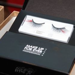 Fancy falsies at the Louboutin boutique