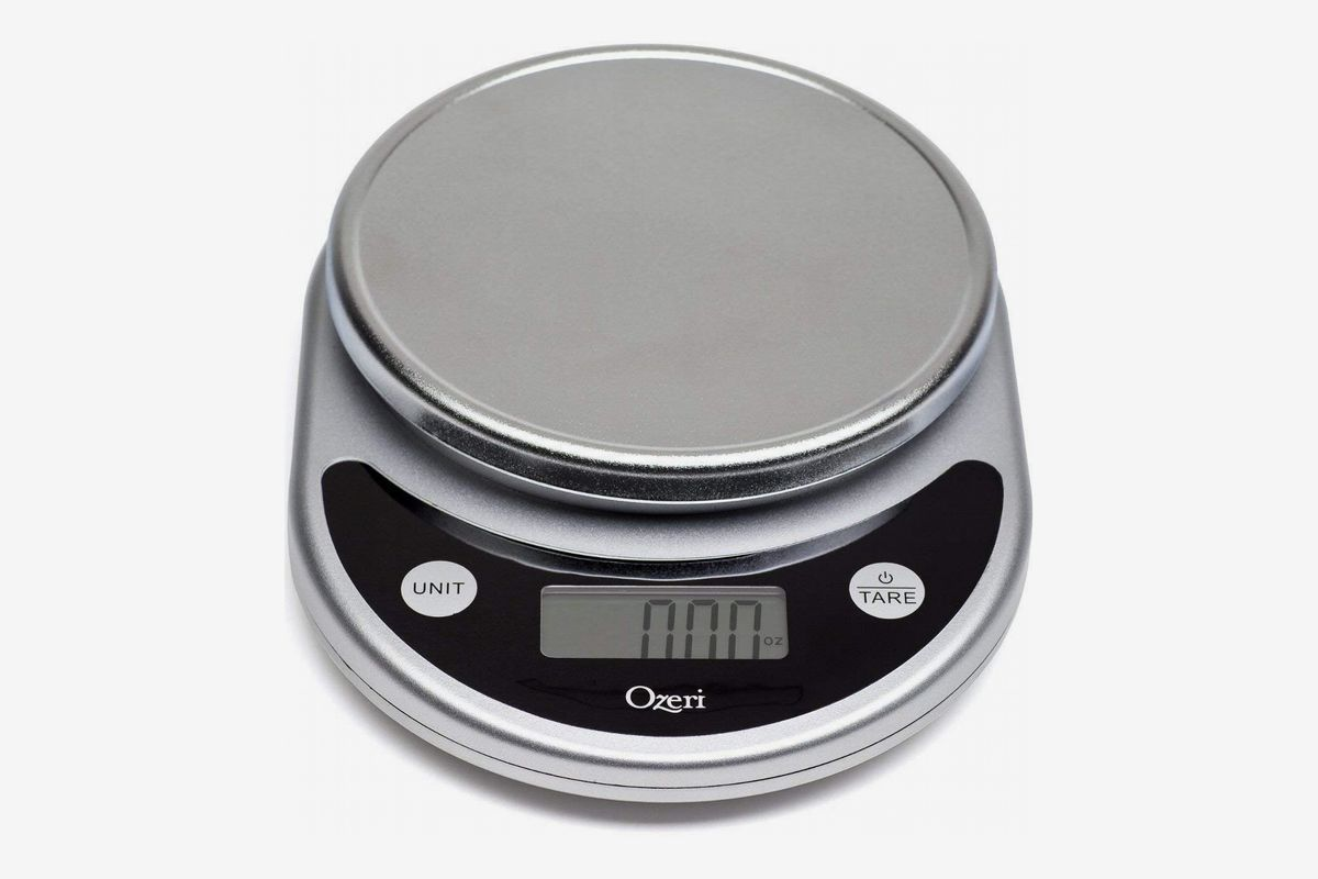 An Ozeri digital kitchen and food scale