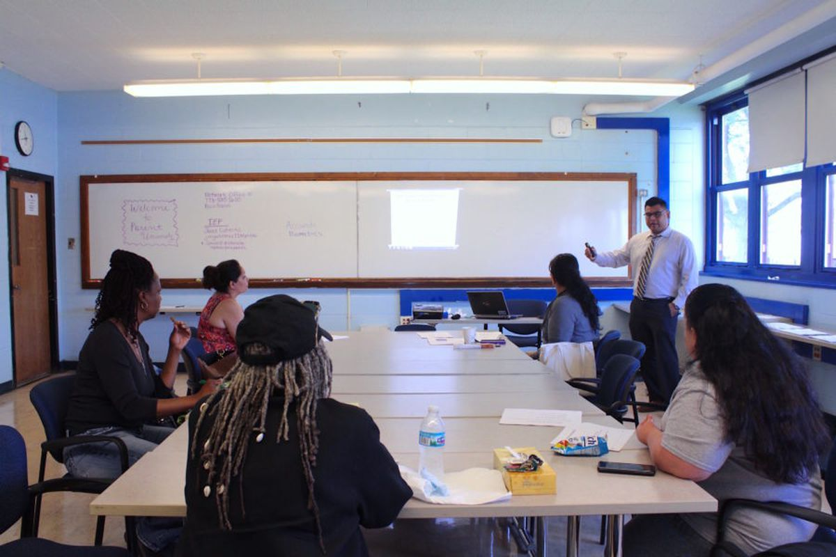 Members of a Chicago local school council during a summer training in June 2018.