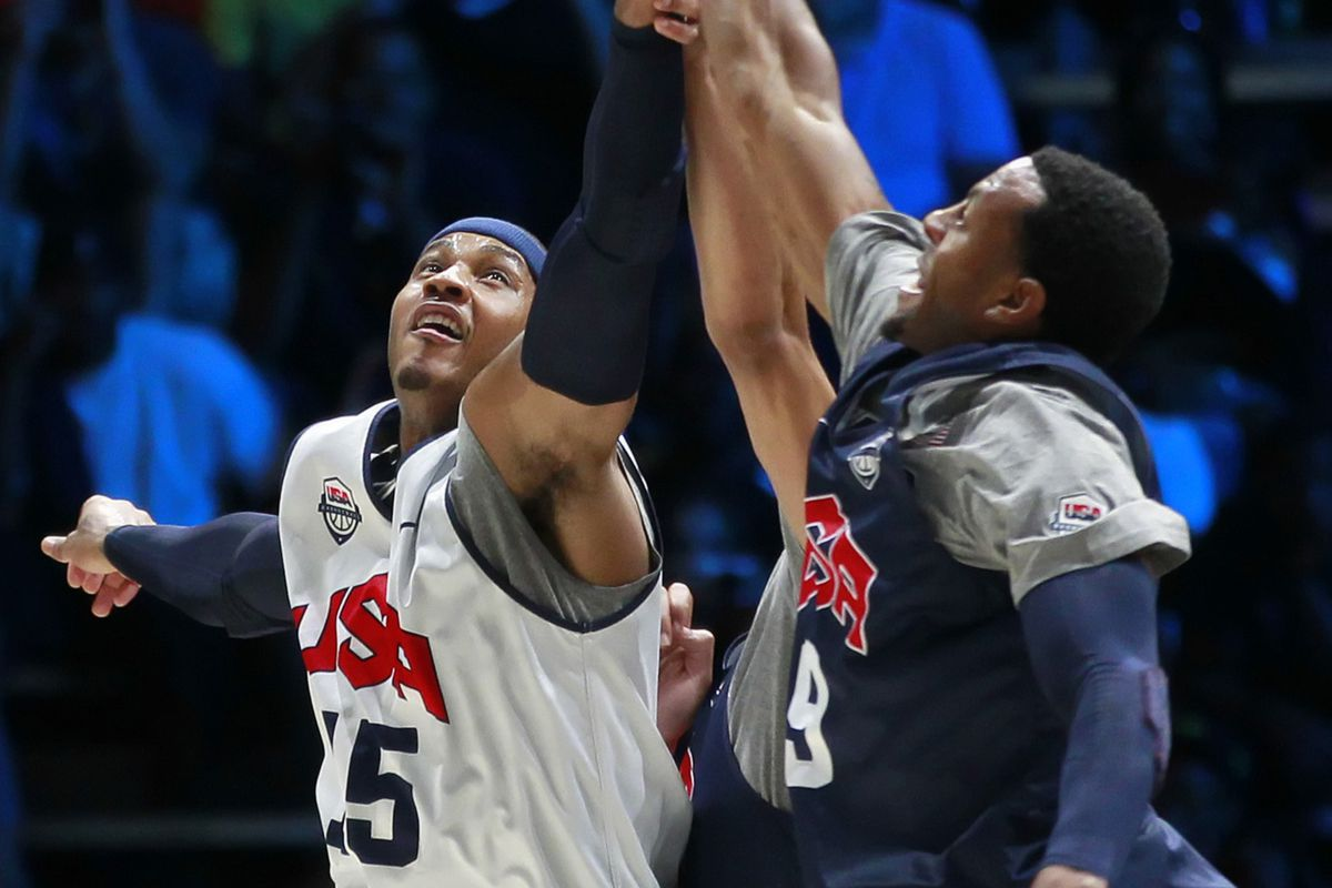 A former and new Nugget go head-to-head at a Team USA scrimmage.