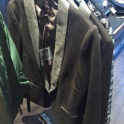 Tuxedo jacket, $125