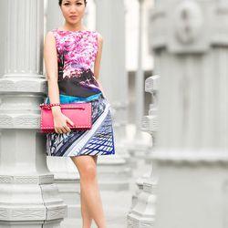 "Wendy of <a href=""http://www.wendyslookbook.com""target=""_blank"">Wendy's Lookbook</a> is wearing a <a href=""http://www.lyst.com/clothing/mary-katrantzou-kardia-dress-blossom/?ctx=6405&lyst_source=6405&lyst_medium=product&lyst_campaign=link""target=""_blank"">"