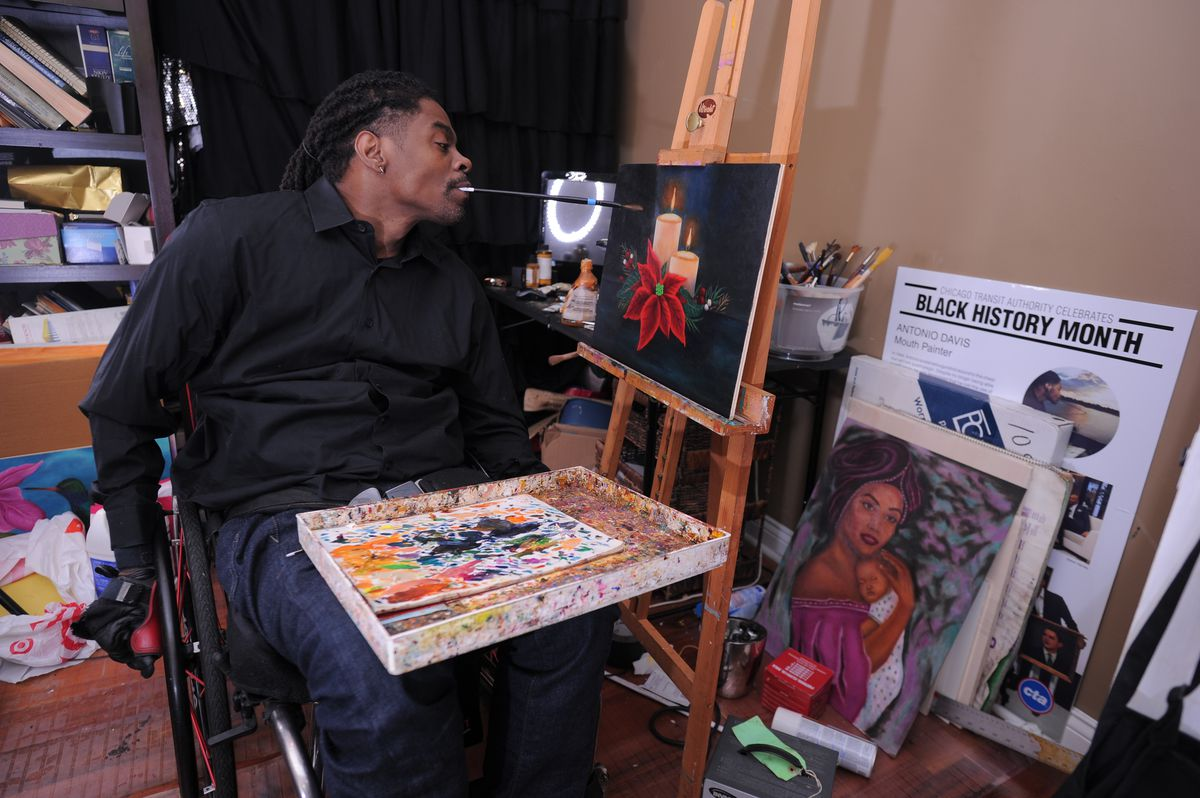 Artist Antonio Davis Multihued Life A Tragedy A Love Story And The Obama Foundation Chicago Sun Times