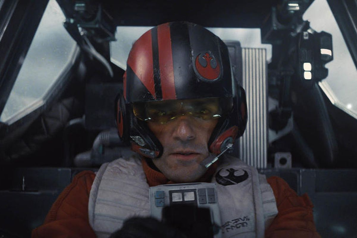 "Poe Dameron (Oscar Isaac) in ""Star Wars: The Force Awakens."""