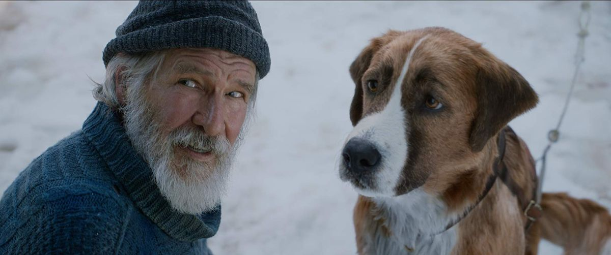 Call of the wild: harrison ford and a digital dog