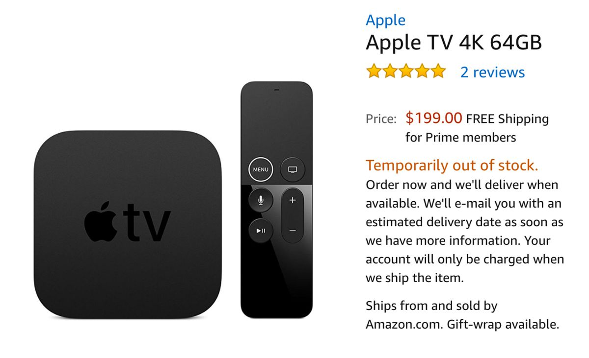 amazon briefly relists apple tv - the verge