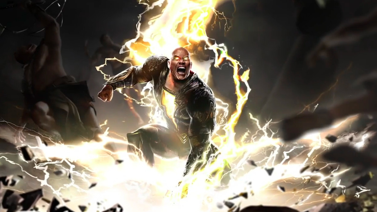 Black Adam movie first look: The Rock teases Justice Society ...