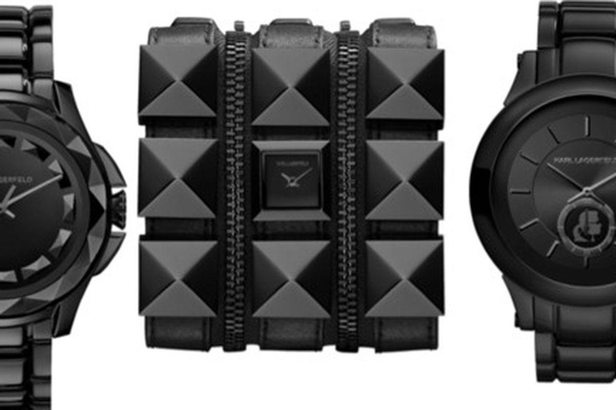 "Image via <a href=""http://www.stylebistro.com/Fashion+News/articles/g7ULlFaKJIA/Karl+Lagerfeld+Watches+Launch+Month+Designer"">StyleBistro</a>"