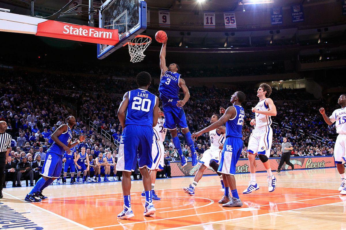 Terrence Jones, seen here against Kansas at Madison Square Garden.