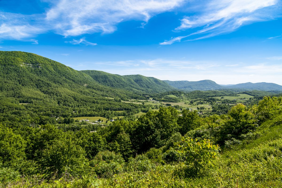 Beautiful mountain and valley called Powell Valley in southwestern Virginia