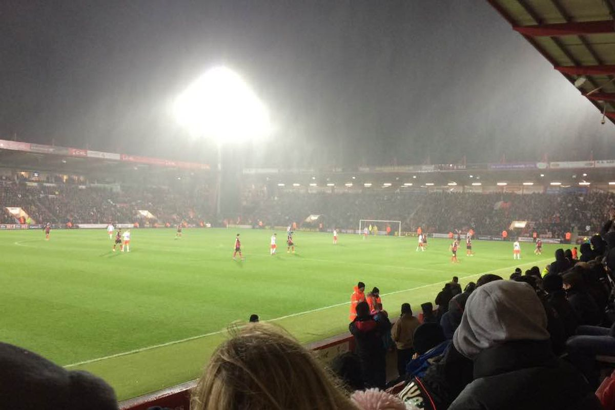 Bournemouth defeated Fulham 2-0 on a wet Boxing Day