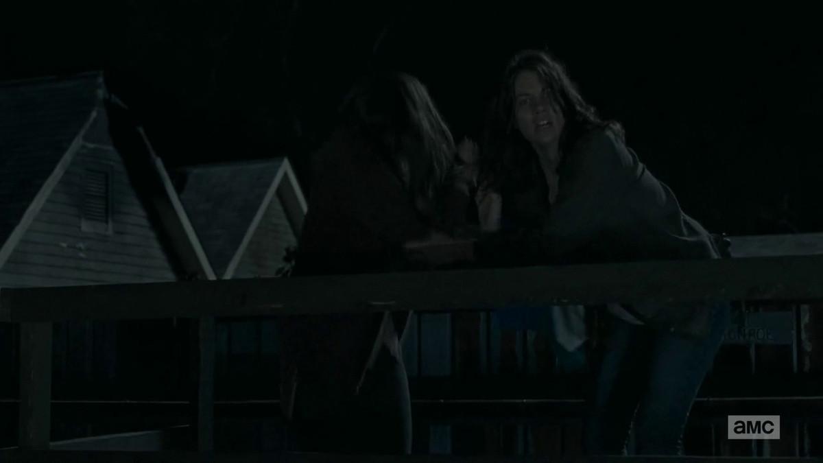 Maggie watches Glenn survive.