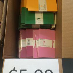 Notebooks, $5