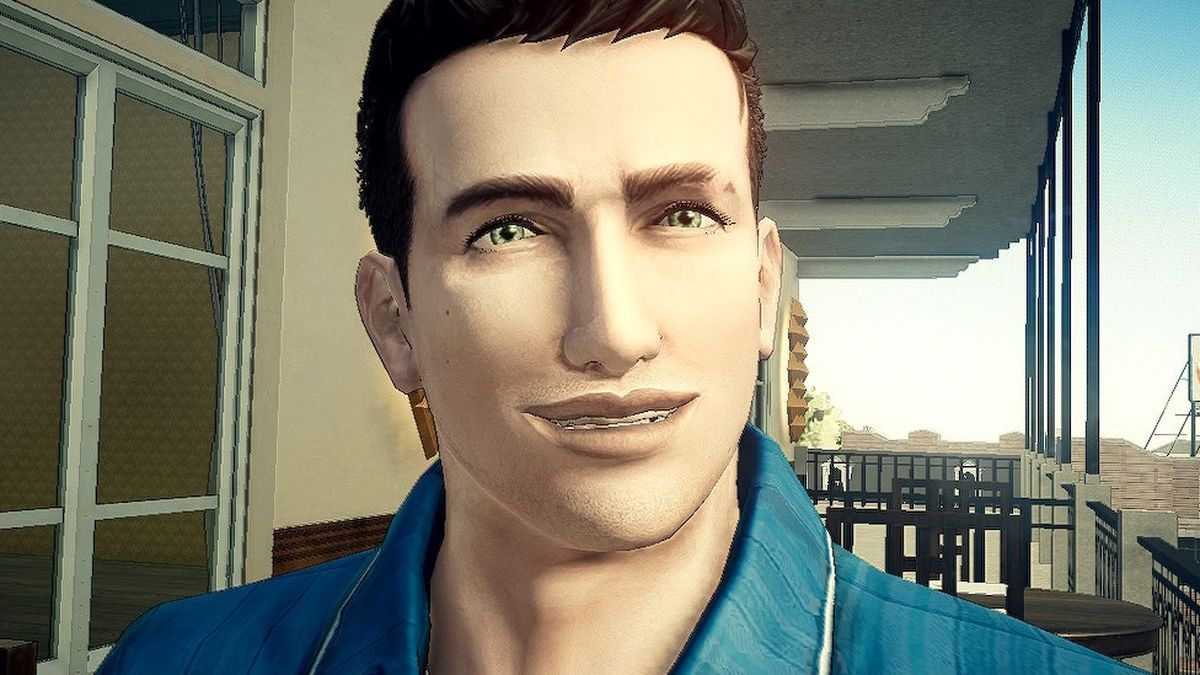 A close-up of Agent York in Deadly Premonition 2: A Blessing in Disguise
