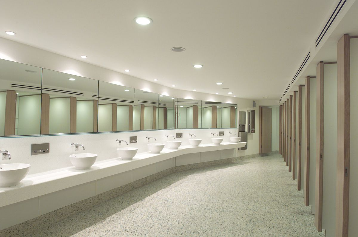 This is the opera bathroom at the English National Opera. Looks nice enough!