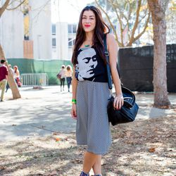 Maria Del Rio; Why we love her look: the Frida tee looks like part of the dress, but it's her own DIY handiwork.