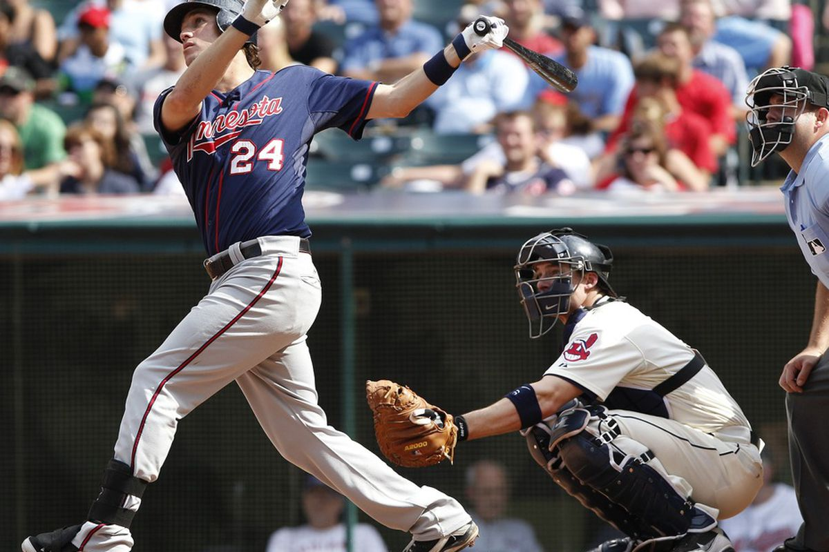 With Delmon gone and Cuddyer's status up in the air, Trevor Plouffe and Danny Valencia are Minnesota's two best right-handed hitters. No offense to those two guys, but that's an issue that needs to be addressed this winter.