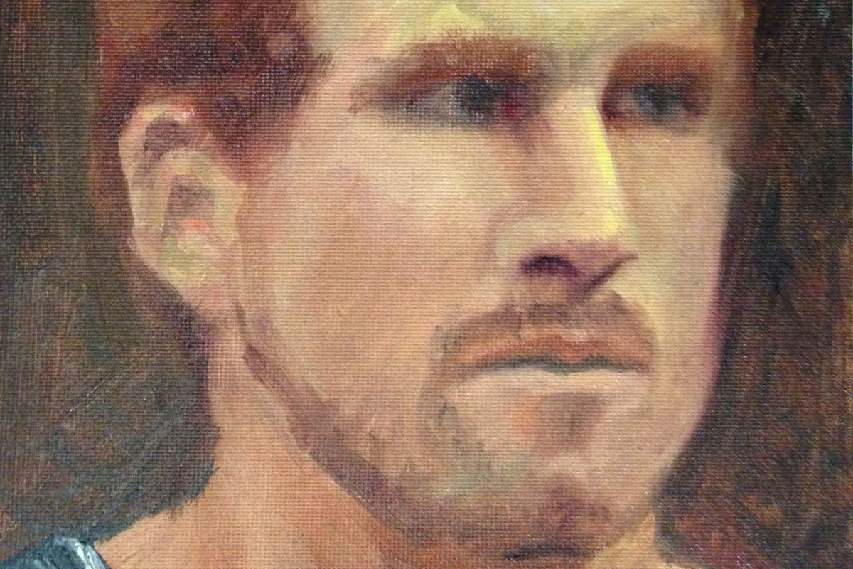 Matt Bonner - oil on canvas