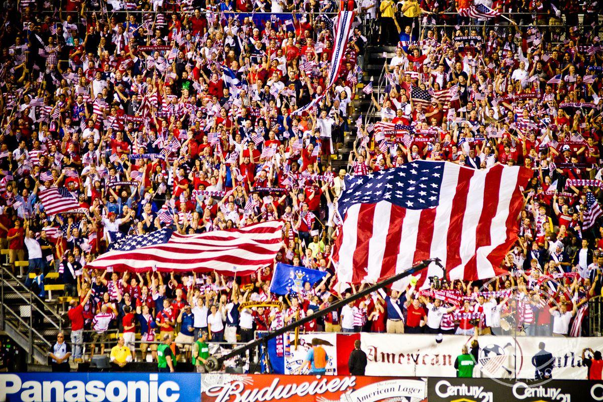 USA Fans at Crew Stadium