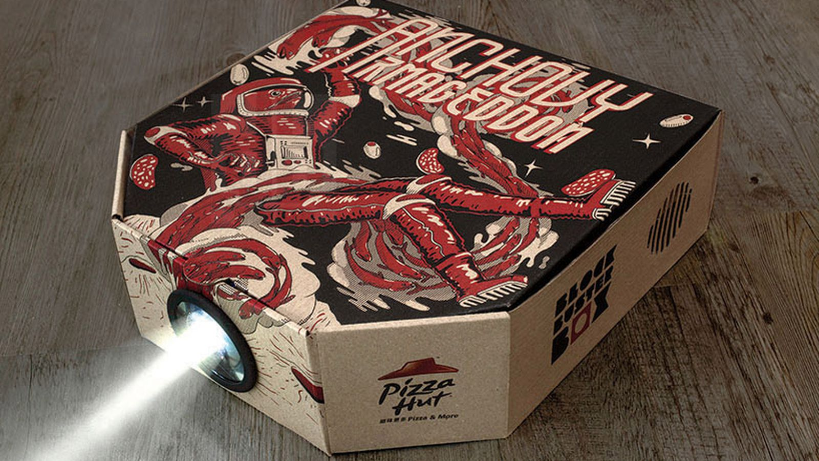 This Pizza Hut box turns into a movie projector - The Verge