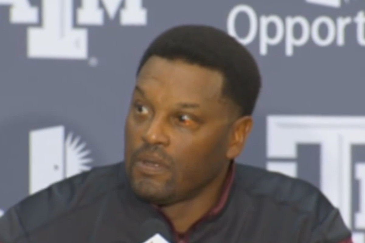Coach Sumlin may have popped a vessel in his left eye