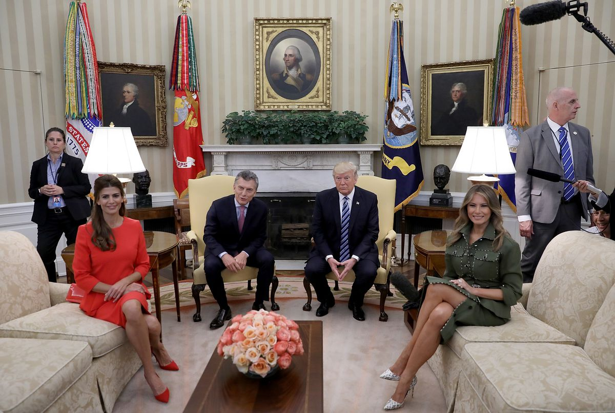 President Trump Meets With Argentine President Mauricio Macri In The Oval Office