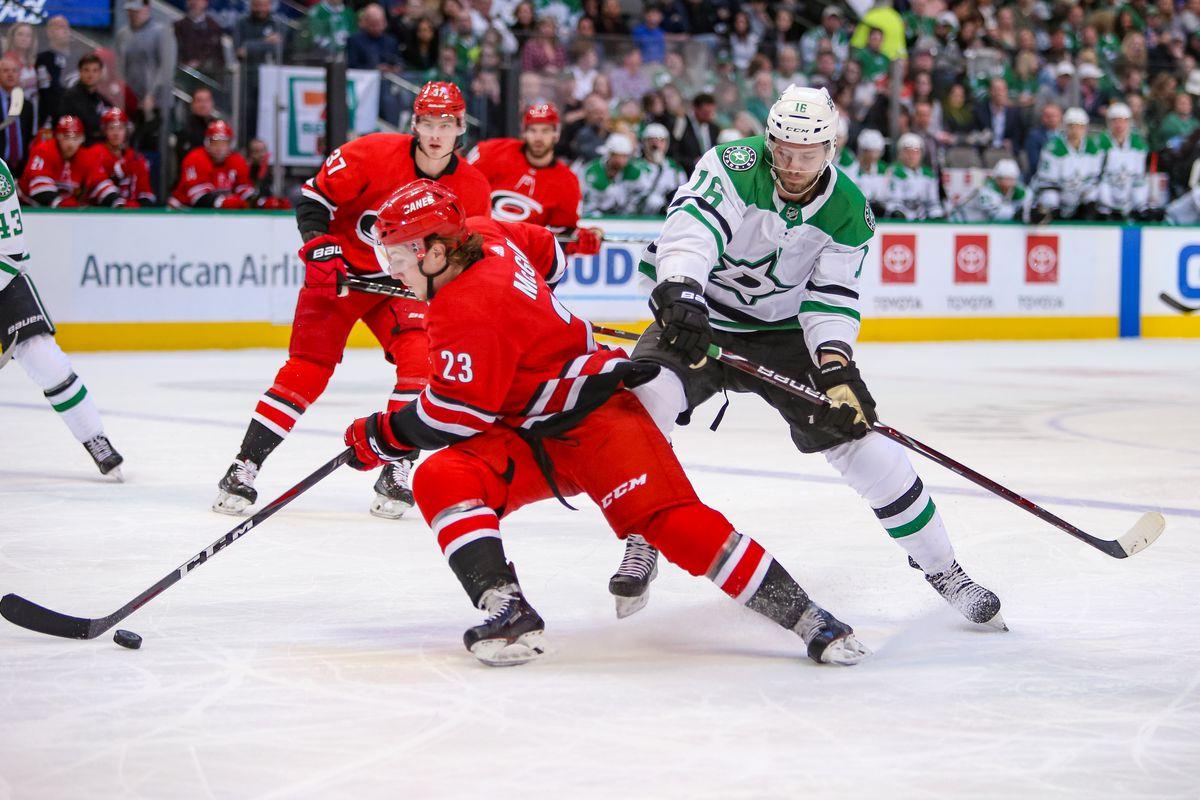 NHL: FEB 23 Hurricanes at Stars