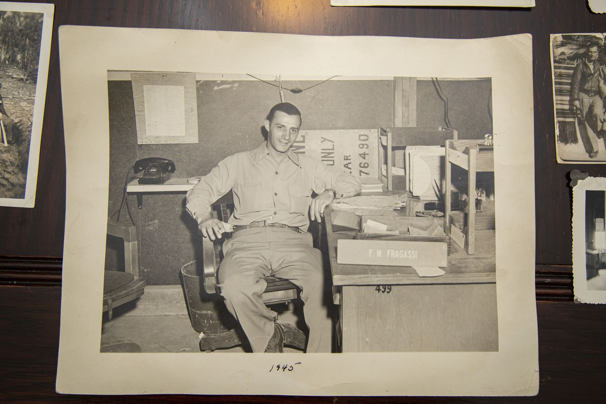 A photo of Fred Fragassi Sr during his time with the Manhattan Project in Los Alamos, New Mexico.