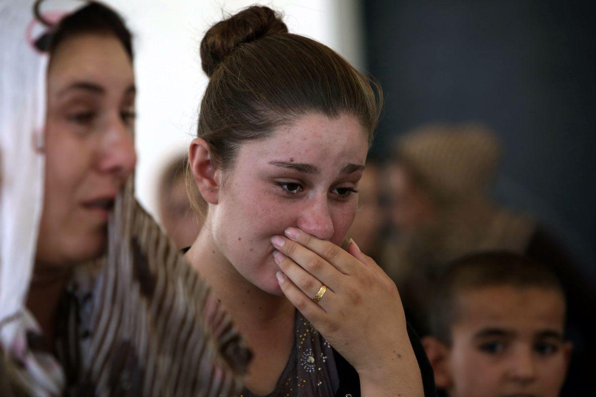 Yazidi refugees from Sinjar.
