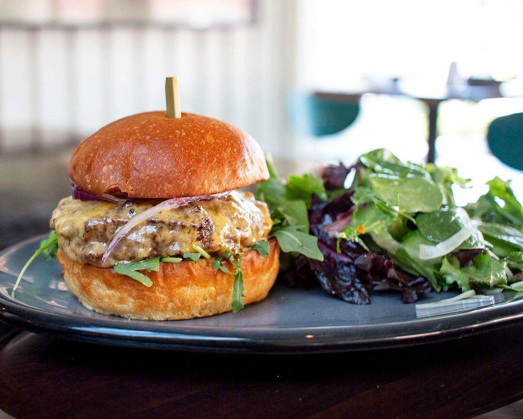 Bistro burger at Bistro Jolie in Beverly Glen.